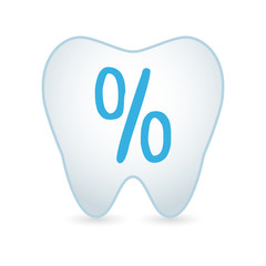 Tooth icon with a percentage sign