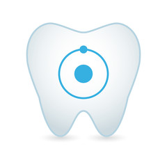 Tooth icon with an atom