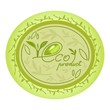 eco natural product logo decorative oval design