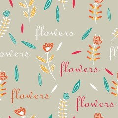 pattern seamless flower decorative fantastic delicate print