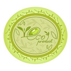 eco natural product logo decorative oval design