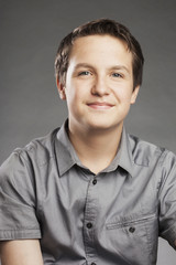 Teenager Junge: Freundlich - Porträt