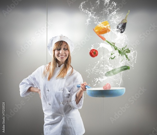 canvas print picture Tasty recipe of a chef
