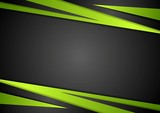 Fototapety Black and green abstract vector design