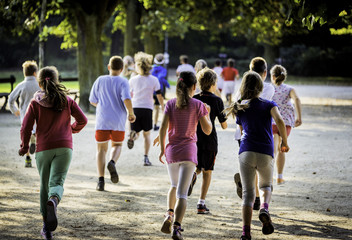 Young school runners