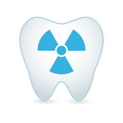 Tooth icon with a radioactive sign