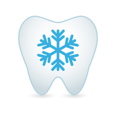 Tooth icon with a snow flake