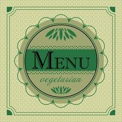 emblem menu vegetarian vegan healthy food design