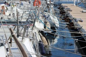 Encombrement des ports de plaisance