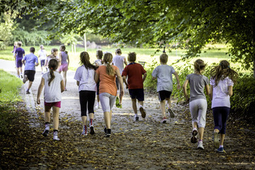 Young school runners