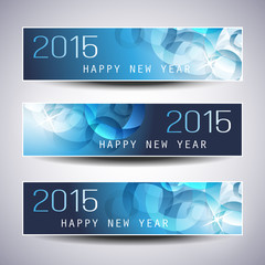 Set of Horizontal New Year Banners - 2015