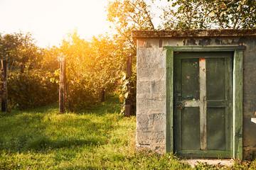 Old cabin on wineyard