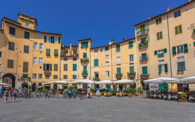 Oval City Square in Lucca