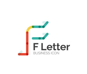 F letter logo, minimal line design