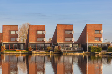 Contemporary residential houses in a row