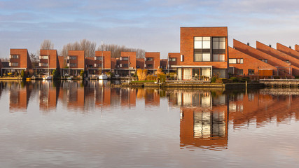 Contemporary residential houses on the waterfront