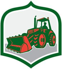 Mechanical Digger Excavator Shield Retro