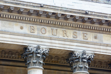 Stock exchange building in Paris, bourse