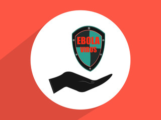 hands holding protection ebola virus