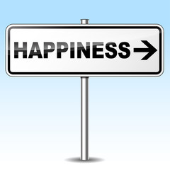 Vector happiness sign