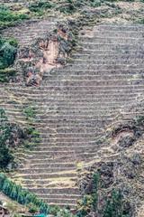 Pisac ruins peruvian Andes  Cuzco Peru