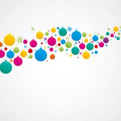 fond abstrait-boules de noël