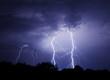 Leinwanddruck Bild - Lightning Bolt Strike