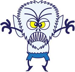 Furious Halloween werewolf being scary