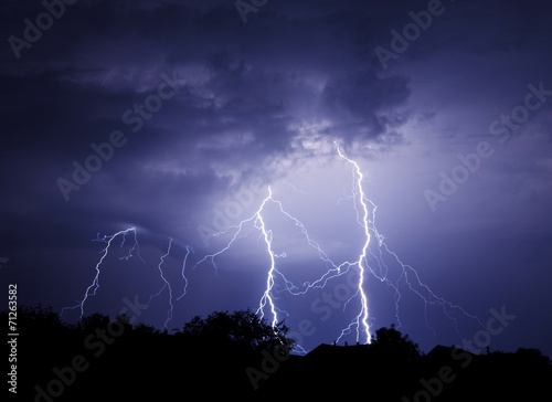 In de dag Onweer Lightning Bolt Strike