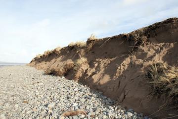 dunes after the storm damage