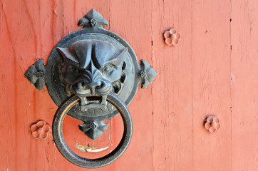 Door handle of the church of Saint Gilles - Camargues - France