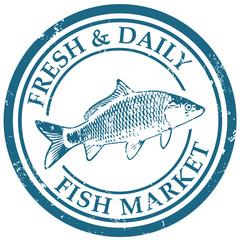 seafood market stamp
