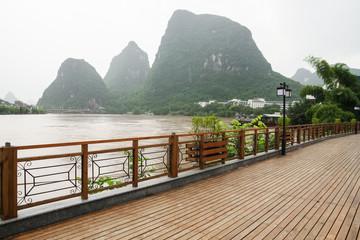 Yangshuo street near Li river