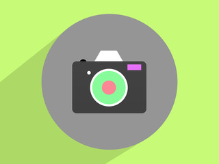Photo camera , Photography. Flat design.