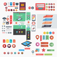 Responsive web template + huge collection of web graphics