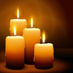 Kerze, 4. Advent, Licht, Weihnachten, Candle, xmas, 3D, vektor