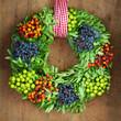canvas print picture - Automn Wreath
