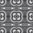 grey geometry vintage floral seamless pattern
