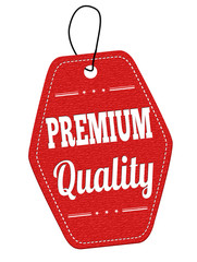 Premium quality red leather label or price tag
