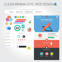 Web template + web graphics