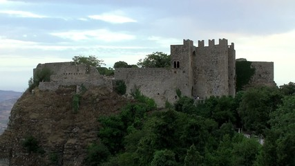 Norman castle of Erice city. Sicily