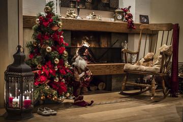 Chrismas tree fireplace