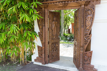 cambodian carving door