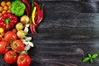 Background with fresh, autumn vegetables - 71266740