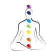 Yoga - Lotussitz mit Chakren