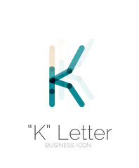 K letter logo, minimal line design