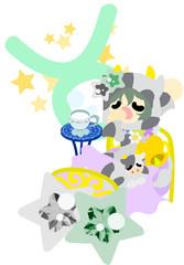 星占いの牡牛座をイメージしたイラスト