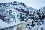 Frozen waterfall in Norway