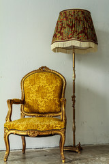 Classic Chair And Lamp