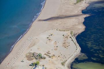 Iztuzu beach and the delta of Dalyan river, Dalyan, Mugla